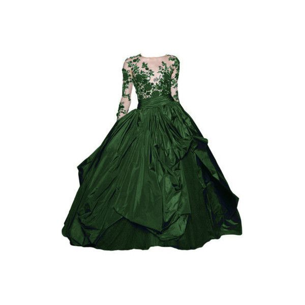 LunaPic.com Photo Editor Open Image tool ❤ liked on Polyvore featuring dresses, gowns, long dress, clothes - gown, green gown, green dress, long dresses, green evening gown and long green dress