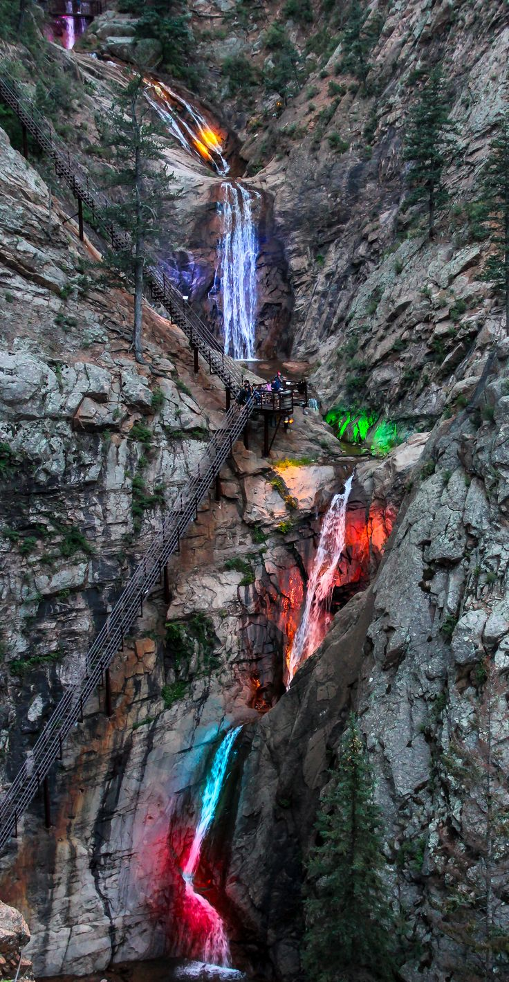 Seven Falls Colorado Springs Co Beautiful But A Scary
