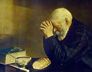 "Eric Enstrom (1875, in Mora parrish, Sweden – 1968, in Coleraine, Minnesota, USA), was famous for his 1918 photograph of Charles Wilden in Bovey, Minnesota. The photo is now known as Grace and depicts Wilden saying a prayer over a simple meal. In 2002, ""Grace"" was designated the state photograph of Minnesota."