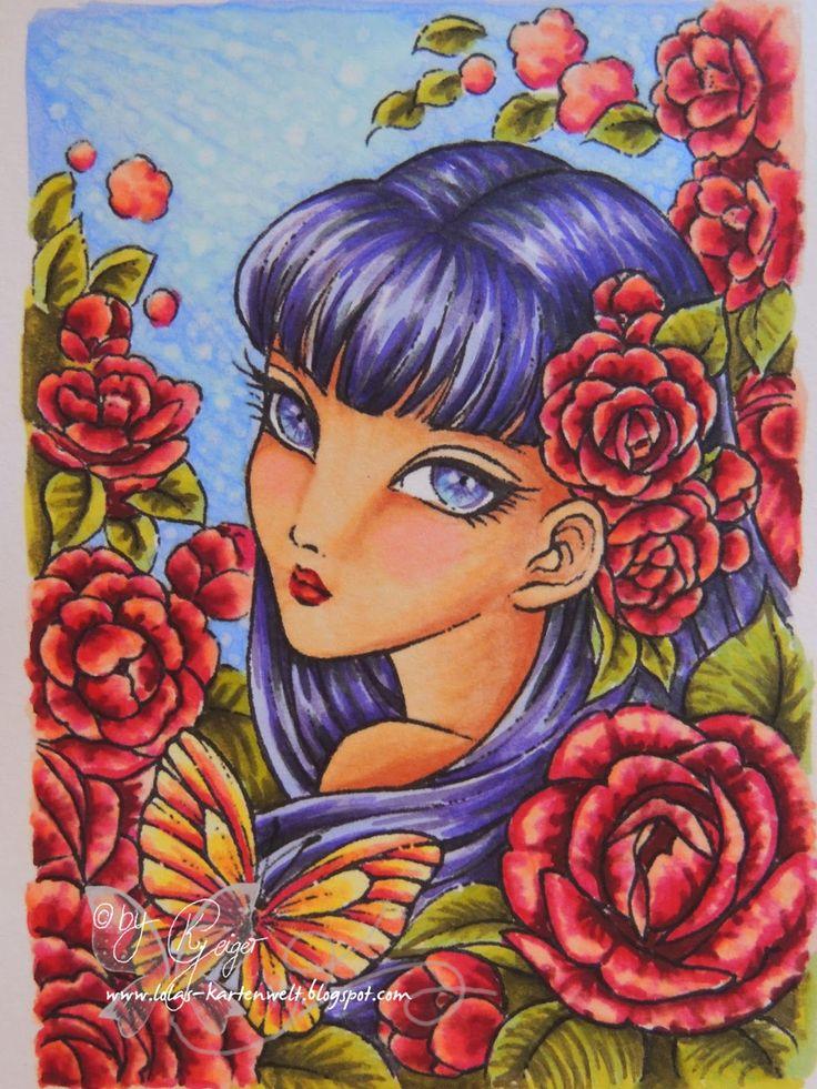 "Lolas Kartenwelt: Videotutorial ""Camellia Spirit"" #2 - Haare colorie..."