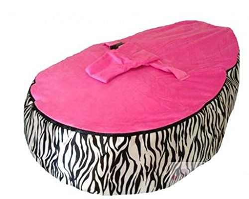 Best Price On LCY Baby Bean Bag Chair Zebra Print Pink UNFILLED See Details Here