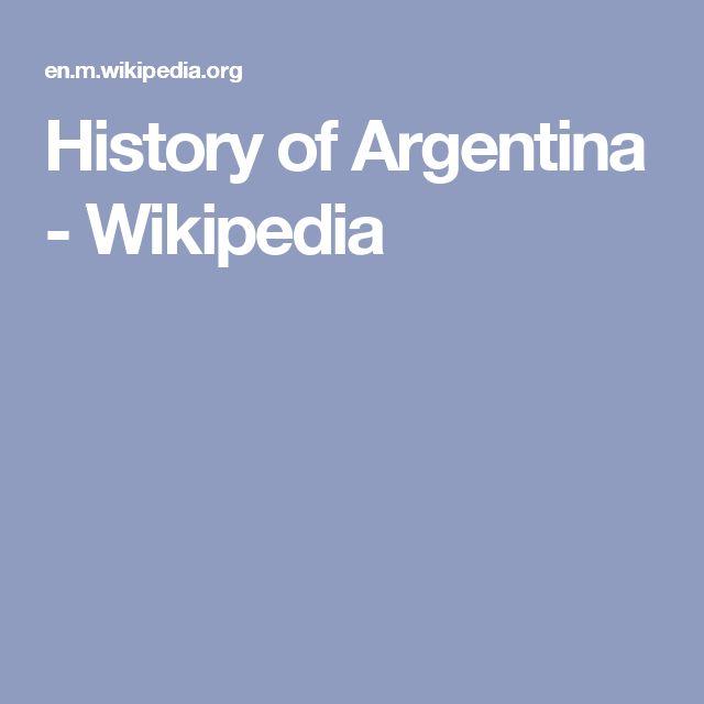 History of Argentina - Wikipedia