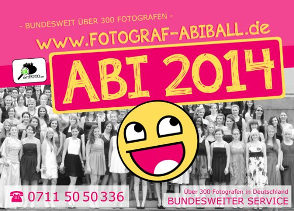 Flyer der vergangenen Jahre - Abiball-Fotografen in ganz Deutschland - GET-FOTO gibt es nun bereits seit knapp 9 Jahren - WOW!