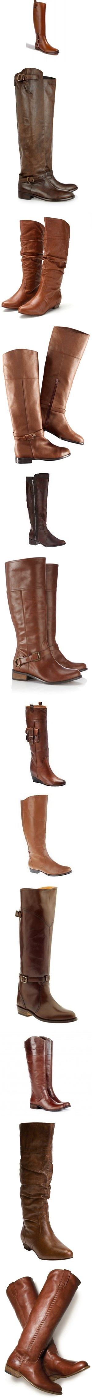 """fall boot fasion"" by elizabethnae on Polyvore. Oh how I have longed for a pair of boots like these!"