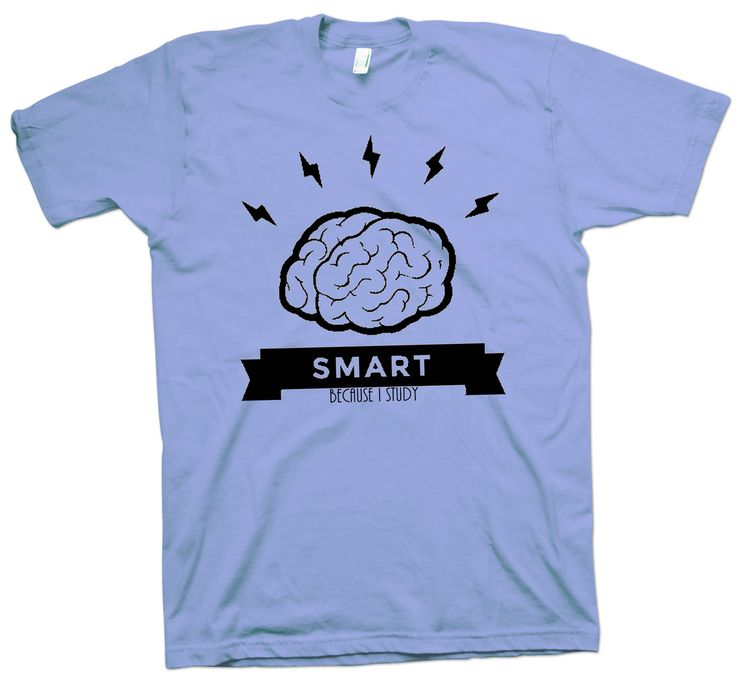 Scientist T-Shirt Smart Because I Study Try It Geek Tee Funny Cute Slogan - T-Shirts