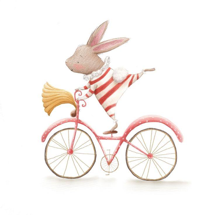 Conejito en bici
