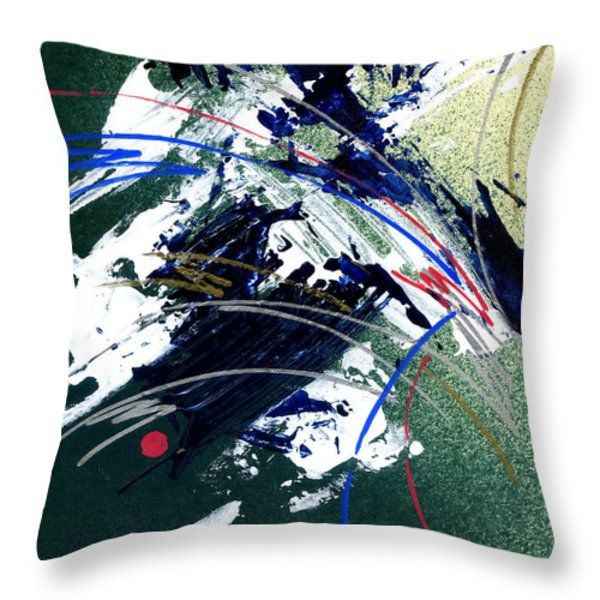 Throw Pillow featuring the painting Amazing Abstract- I by Rupam Shah