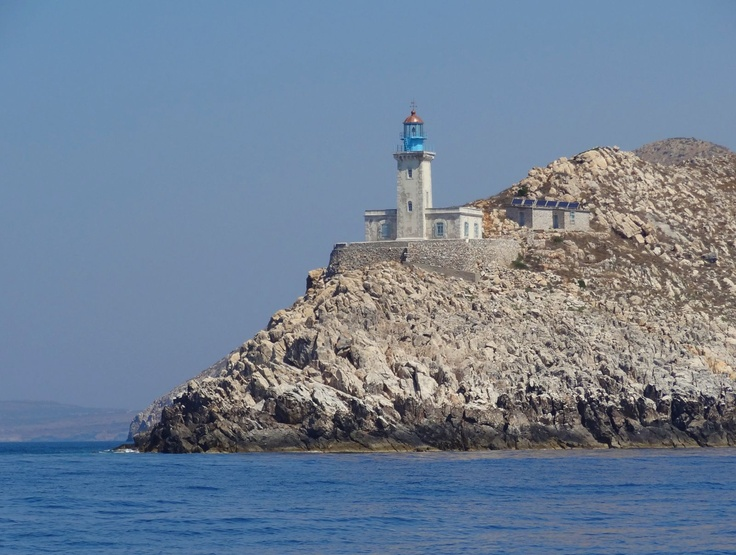The lighthouse at Ak Tainaron (Cape Matapan) which we passed on our way up towards Koroni