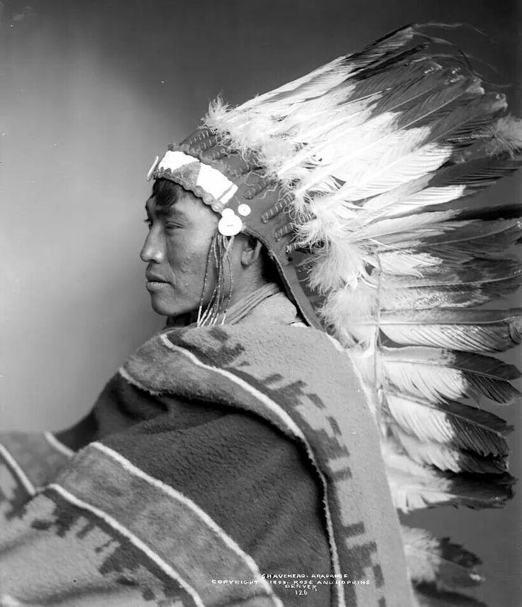 Shavehead. Arapaho. 1899. Photo by Rose & Hopkins. Source/ Denver Public Library