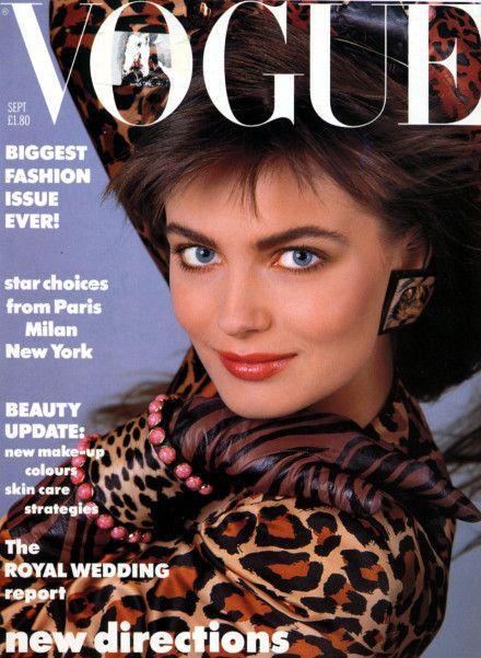 Paulina Porizkova by Patrick Demarchelier Vogue UK September 1986