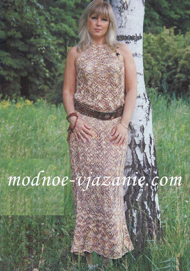 Платье макси с ажурным узором