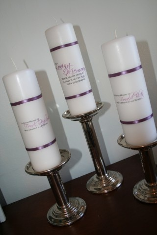 DIY- In memory candles for wedding