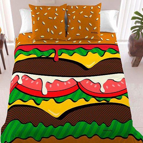 ハンバーガーのベッド1