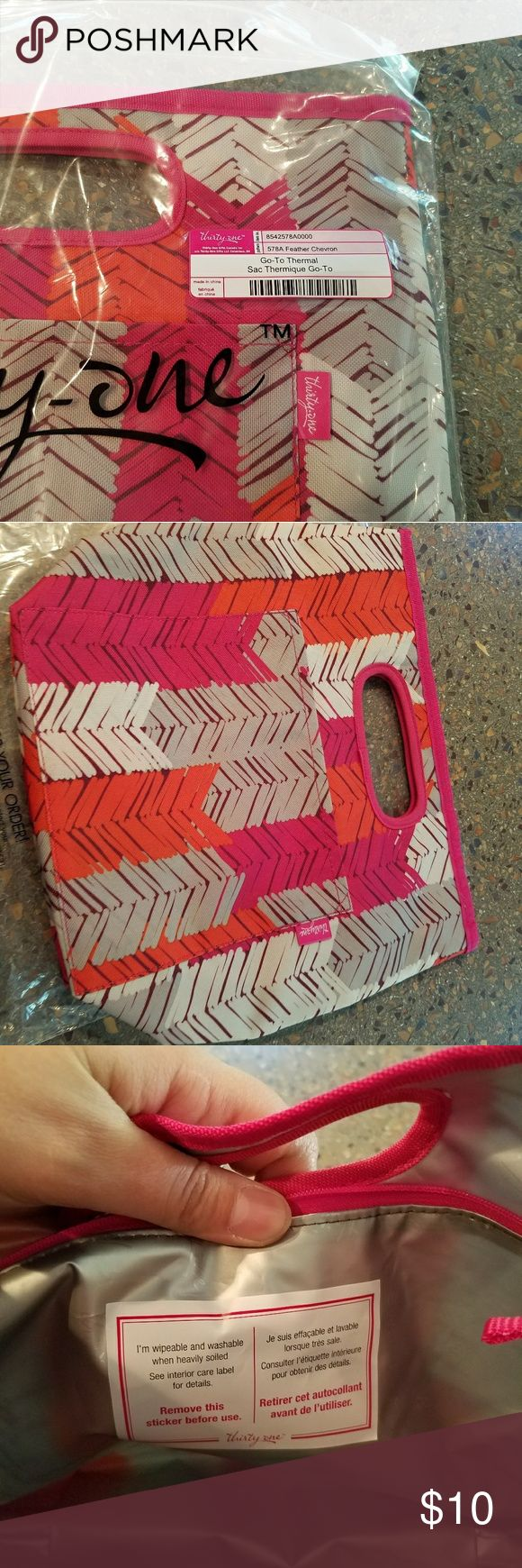 Brand new thirty one goto thermal Brand new never used go to thermal lunch box. This lunch box is great it can be thrown in the washer when it needs washed thirty one  Other