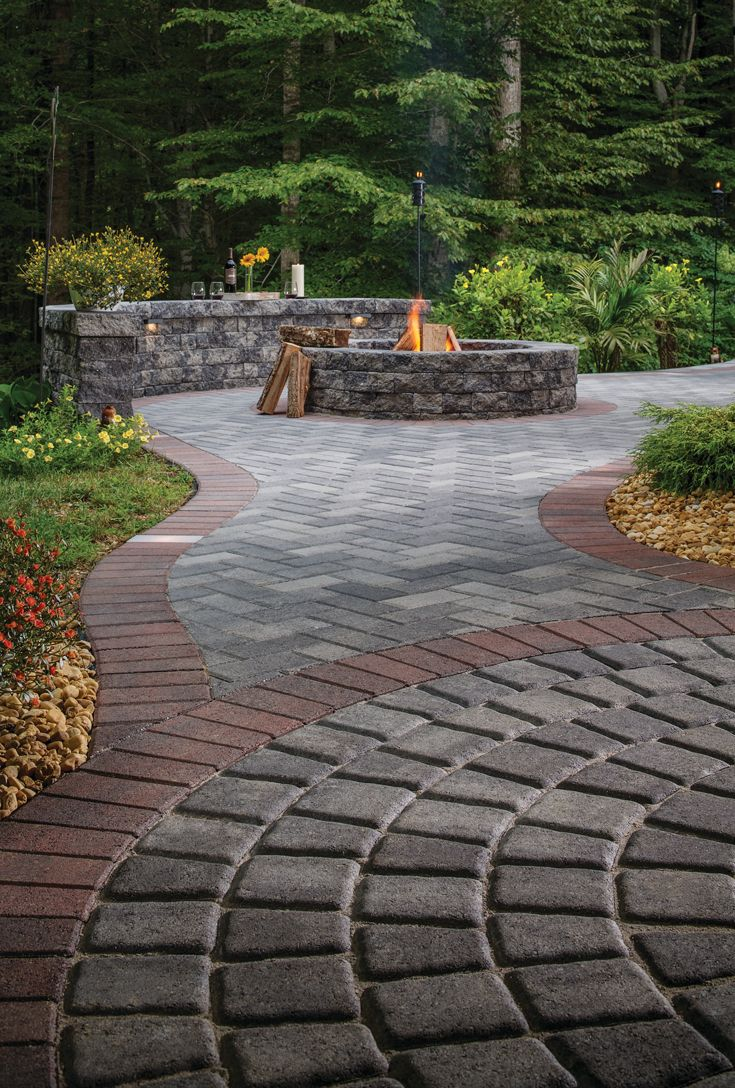 Define Your Space With Paver Borders Pavers Backyard Paver Patio Outdoor Pavers
