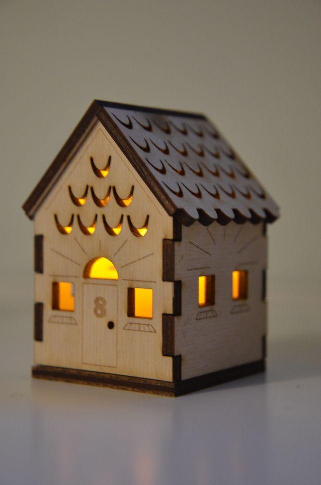 Laser cut wooden nightlight - http://folksy.com/items/4894682-Laser-cut-wooden-nightlight-small-