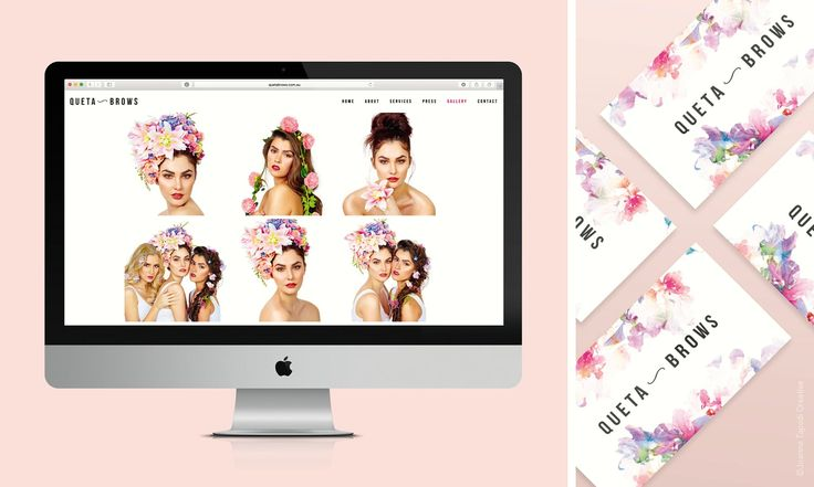Queta Brows branding / brand design by Joanne Tapodi Creative / logo / business cards / photoshoot / website /beauty / www.joannetapodicreative.com.au  / www.quetabrows.com.au #graphicdesign #branding #logo #website