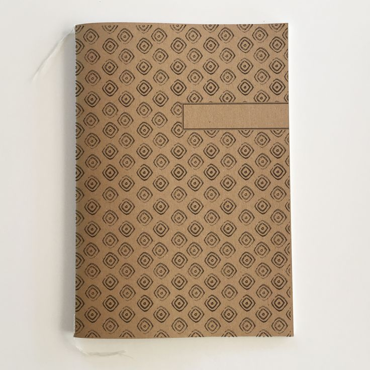 A5 African Pattern Design Notebook. 100% recycled paper.