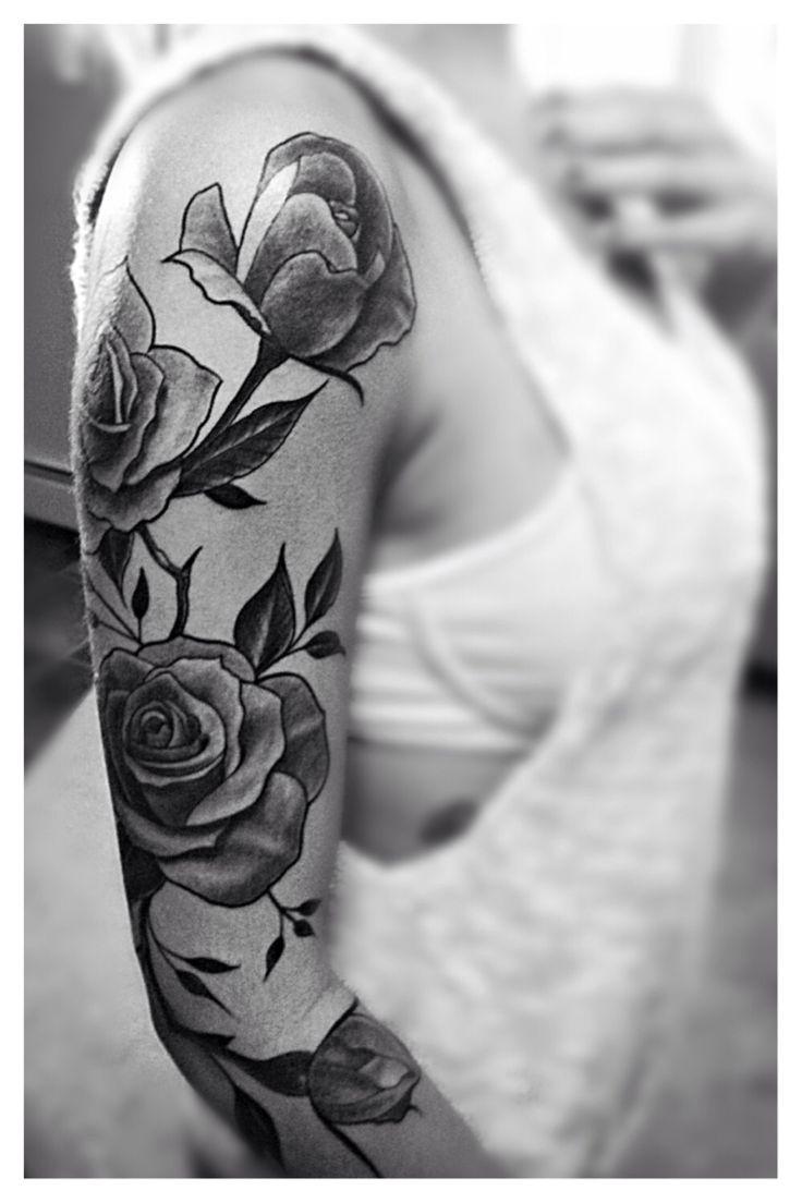 Best 25 rose vine tattoos ideas on pinterest thigh tattoo rose vine tattoo sleeve black dhlflorist Images