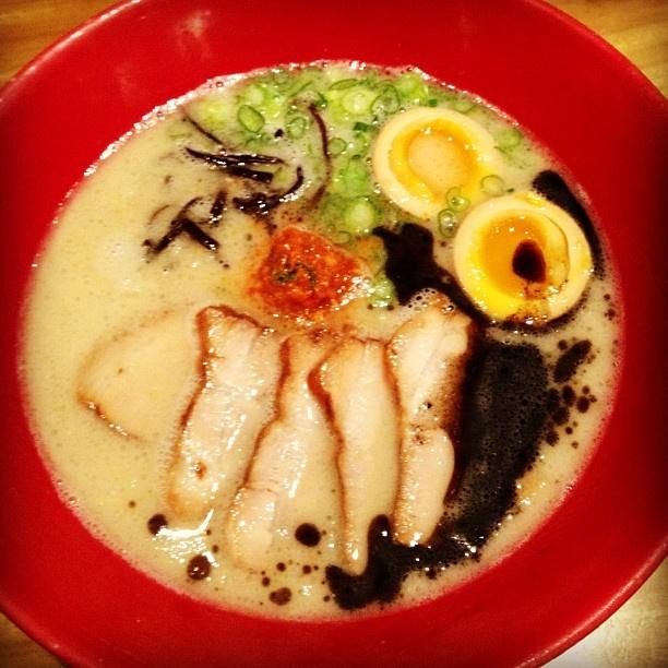 Ippudo's Akamaru Modern Ramen! Seriously one of Gothamista's top 5 fav dishes in NYC