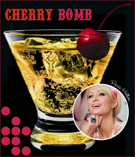cherry bomb (cherry vodka, red bull)