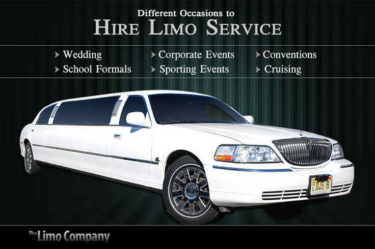 Different Occasions to Hire Limo Service: Wedding Corporate Events  Conventions School Formals Sporting Events Cruising