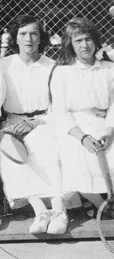 Tatiana and Anastasia in their tennis clothes