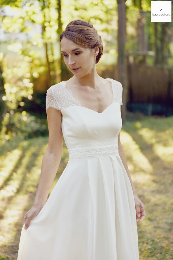 com modèle Noémie. kaa couture créatrice de robe de mariée à lyon ...