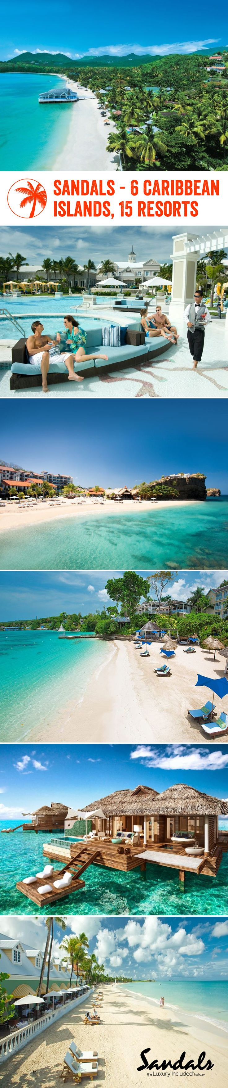 Personal butlers, beautiful beachfront locations and exciting activities - Sandals really has it all. Better yet, there are 15 resorts to choose from, so you'll be sure to find the perfect one for you