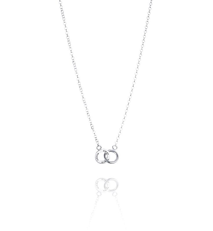 Mini Twosome Necklace - Silver - Halsband - Efva Attling