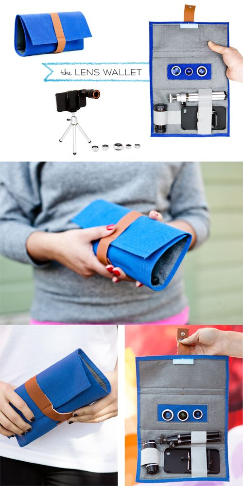 The iPhone Lens Wallet has been specially formulated to fit the Photojojo Phone Lens line, plus a 10-12x telephoto lens and a mini tripod. So many goodies, all in one place.