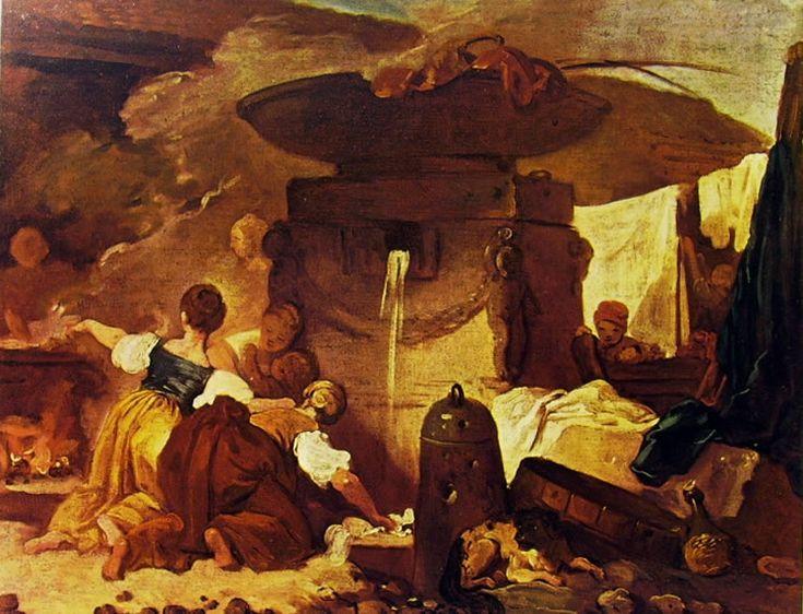 """Jean-Honerè Fragonard, """"Lavandaie"""", 1773-76, olio su tela, 48 x 62 cm, è custodito da una collezione privata a New York."""