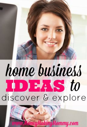 Looking for ideas to start a home business? Want to be your own boss? Here is a list of ideas that might help you decide! #homebusiness #workathome