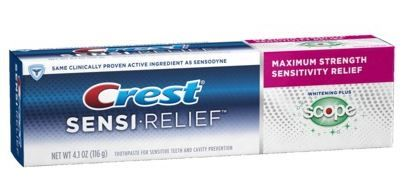 Walgreens   Crest Sensi-Relief Toothpaste only $1.00 each!