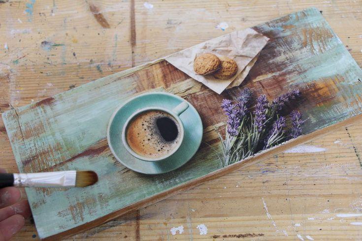 Декупаж за 3 часа: мастерим мини-поднос «Веточка лаванды» - Ярмарка Мастеров - ручная работа, handmade