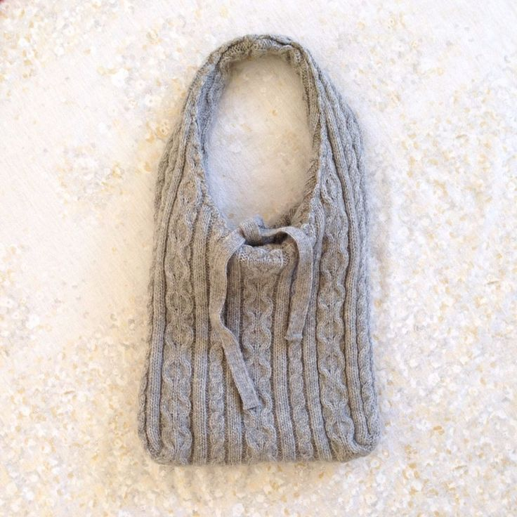 Zara Purse Wool Knit Gray Tie Shoulder Bag  Lined Fall Autumn Winter Cozy Grey #Zara #ShoulderBag