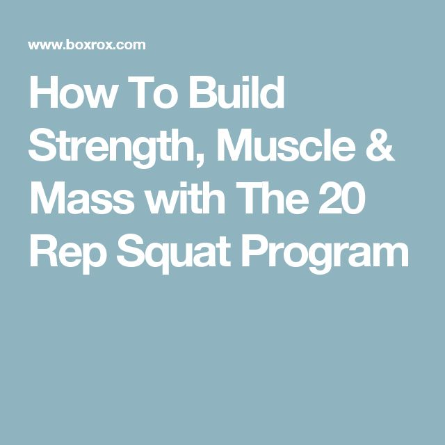How To Build Strength, Muscle & Mass with The 20 Rep Squat Program