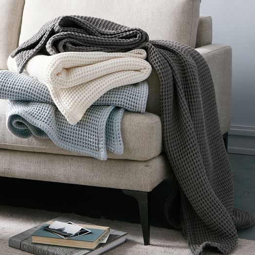 Stonewashed Waffle End-of-Bed Blanket | west elm $129