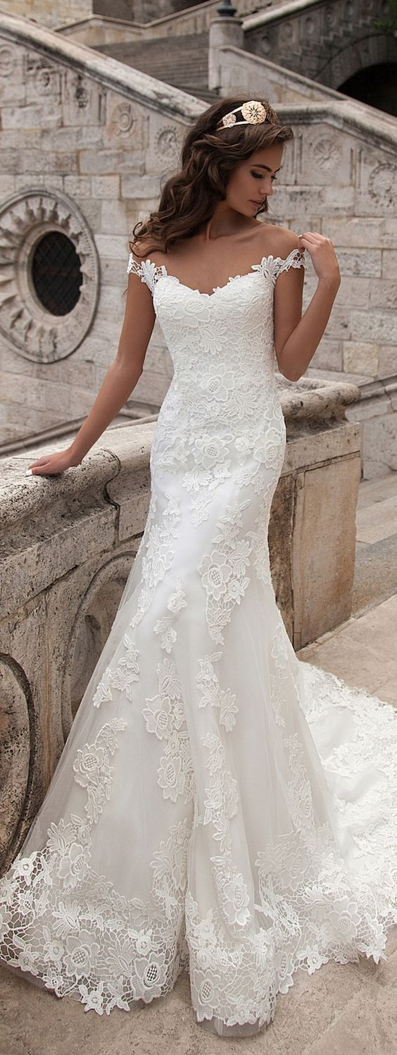full lace wedding dresses,white wedding dress,mermaid wedding dress,2017 elegant trumpet wedding dress,long train bridal gowns,off shoulder wedding dress