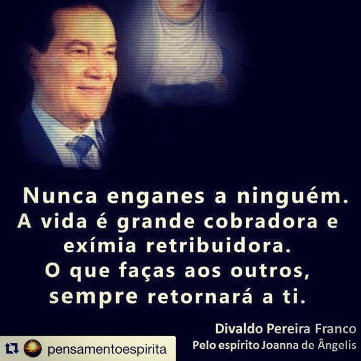 """""""#Repost @pensamentoespirita with @repostapp. ・・・ O plantio é livre, maaaas a colheita é obrigatória.  A Lei do Retorno não falha. """""""