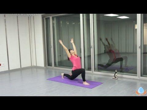 """Clase de yoga para principiantes en español """"Fortalece y relaja tu cuerpo"""" - Yogahora.com - YouTube"""