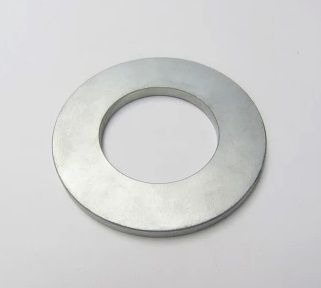 N50 Neodymium Magnet (NdFeB) -Ring Shape;  Magnet size: D90xd50xT6mm  Magnetized direction: Through 6mm;  Plated: Nickel; Contact us at sales@euke-permanentmagnet for your custom magnet; learn us more from www.euke-permanentmagnet.com and www.cmsmagnets.com