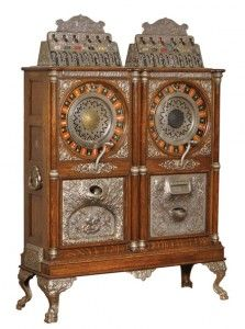 Morphy Auction Caille double upright slot machine