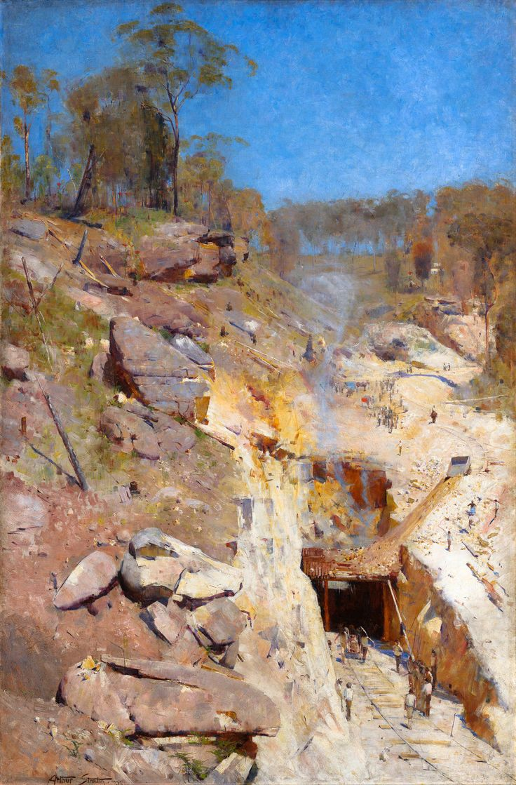 Arthur Streeton, Fire's On, Fires On 1891, Fade Resistant HD Art Print or Canvas in Art, Prints | eBay