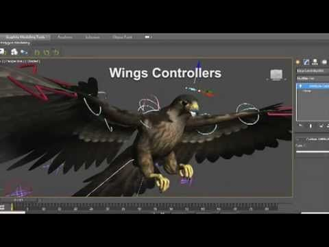 Rigging Wings in 3ds Max Tutorial (Peregrine Falcon)