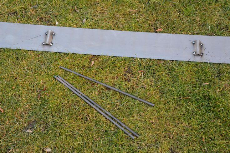 Rasenkanten Cortenstahl 200 cm x 15 cm x 3 mm - 2er Set