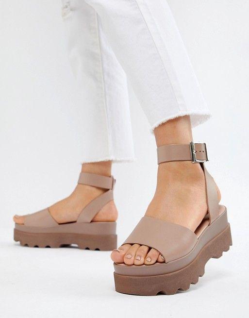 4bab85c2d1d2 DESIGN Temple leather flatform sandals