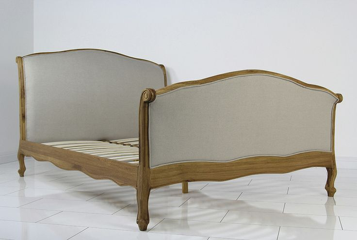 French Country Oak Upholstered 6ft Super King Size Curve