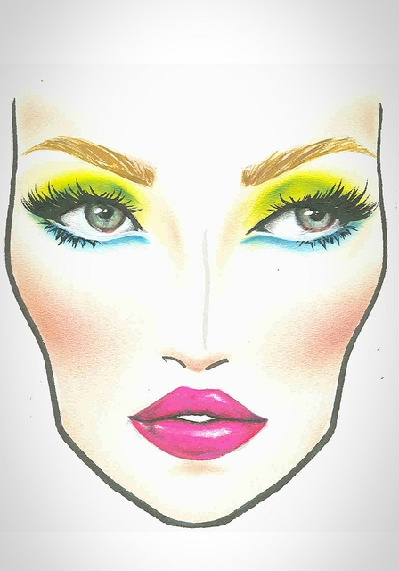 MAC Halloween Face Chart Nicki Minaj   Flickr - Photo Sharing!