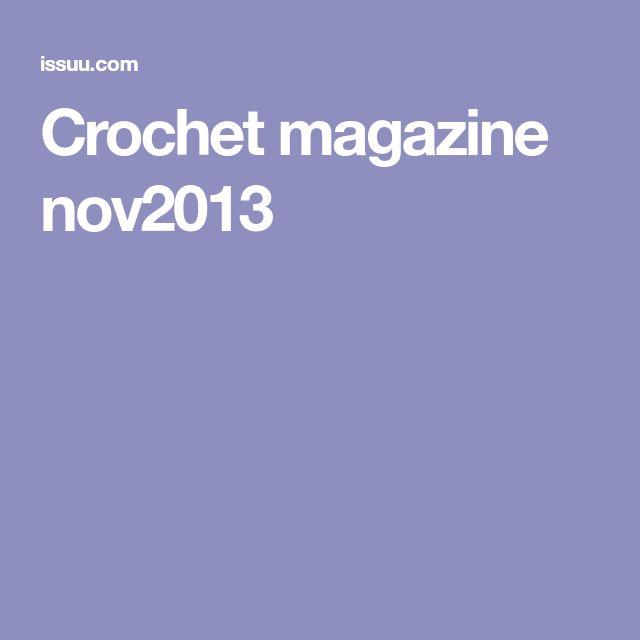 Crochet magazine nov2013